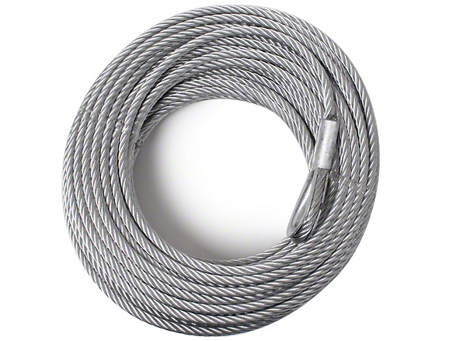 Rugged Ridge 10,500 lb. Winch Replacement Steel Cable - 23/64 in. x 94 ft. (97-17 All)