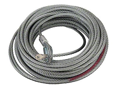 Rugged Ridge 8,500 lb. Winch Replacement Steel Cable - 5/16 in. x 94 ft. (97-18 All)