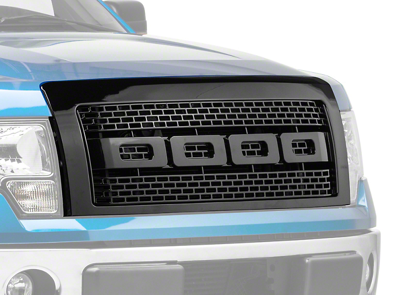 Barricade Upper Replacement Grille - Black (09-14 F-150, Excluding Raptor)