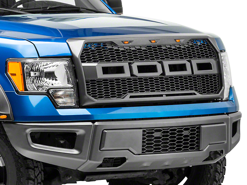 Barricade Raptor Style Upper Replacement Grille w/ LED Lighting (09-14 All, Excluding Raptor)