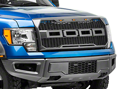 Barricade Raptor Style Upper Replacement Grille w/ LED Lighting (09-14 F-150, Excluding Raptor)