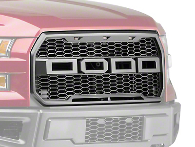 Barricade Raptor Style Upper Replacement Grille w/ LED Lighting (15-17 All, Excluding Raptor)