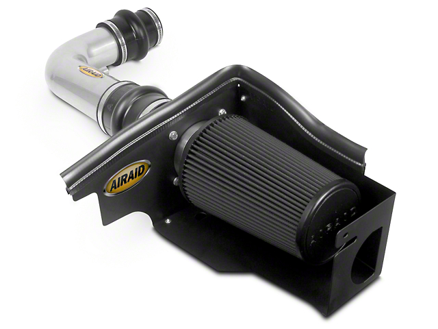Airaid Silver Cold Air Dam Intake w/ Black SynthaMax Dry Filter (97-03 4.6L)