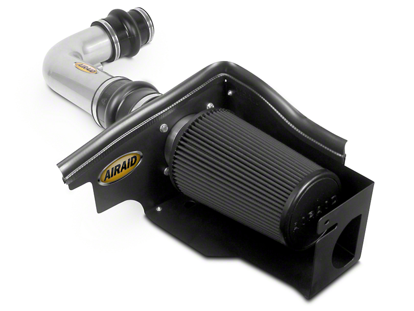 Airaid Silver Cold Air Dam Intake w/ Black SynthaMax Dry Filter (97-03 5.4L)