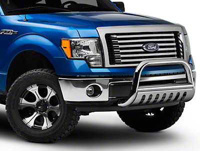 Smittybilt Grille Saver Bull Bar - Stainless Steel (04-14 All, Excluding Raptor)