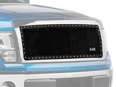 Smittybilt M1 Wire Mesh Upper Grille Insert - Satin Black (09-14 All, Excluding Raptor)