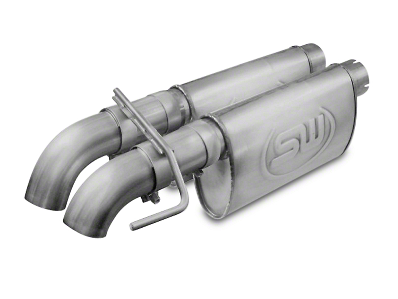 Stainless Works 3 in. Dump Style Dual Exhaust System w/ Chambered Turbo Mufflers - Performance Connect (10-14 6.2L Raptor SuperCab)