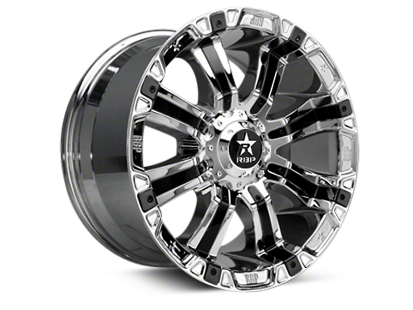 RBP 94R Chrome w/ Black Inserts 6-Lug Wheel - 20x10 (04-17 All)