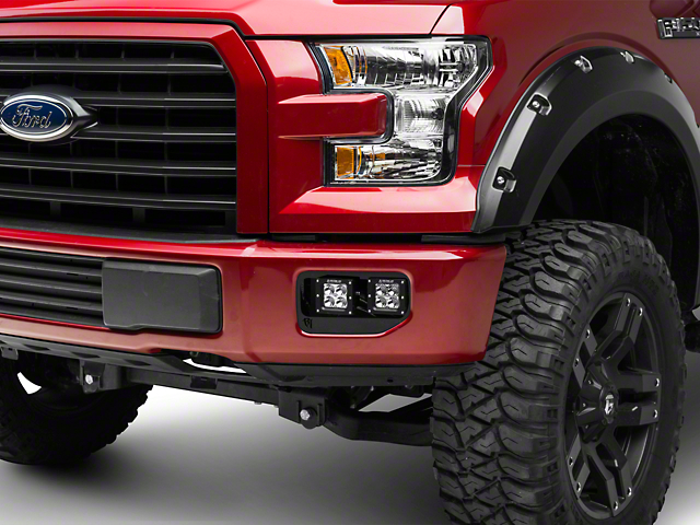 Rigid Industries Dual Fog Light Mounts (15-17 All, Excluding Raptor)