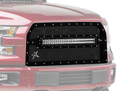 Rigid Industries Upper Replacement Grille w/ 30 in. RDS Light Bar (15-17 All, Excluding Raptor)