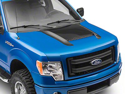RK Sport Ram Air Hood w/ Carbon Fiber Scoop - Unpainted (09-14 F-150, Excluding Raptor)