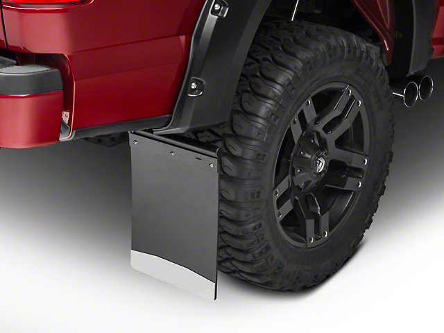 Husky Removable Pivoting Mud Flaps - Stainless Steel Weight (97-18 F-150)
