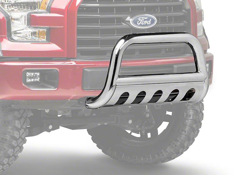 Barricade 3 in. Bull Bar w/ Skid Plate - Polished Stainless (04-19 F-150, Excluding EcoBoost & Raptor)