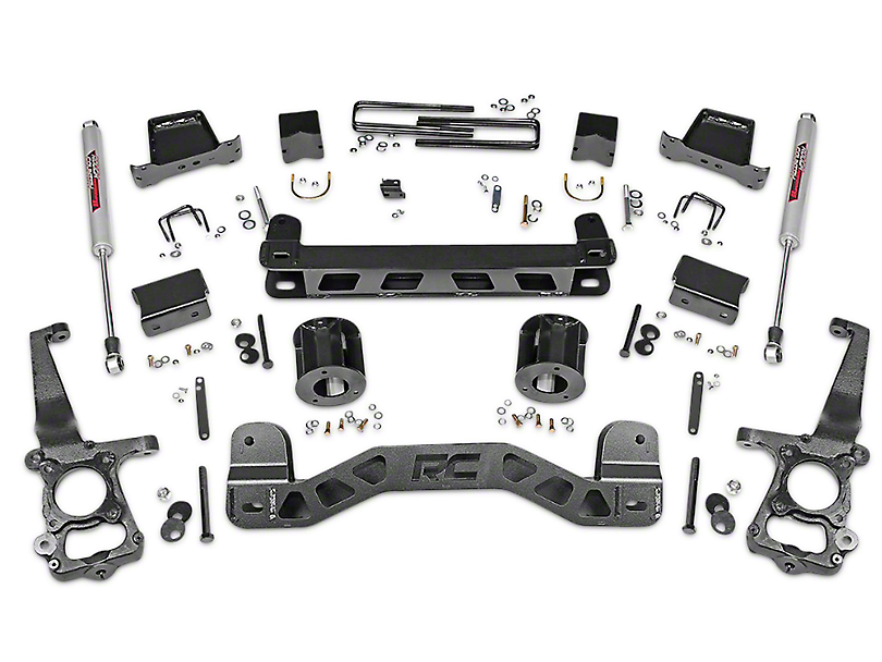 Rough Country 6 in. Suspension Lift Kit w/ Shocks (15-20 2WD F-150)