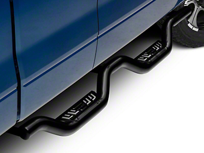 Lund Latitude Black Nerf Bars - Black (09-14 SuperCab, SuperCrew)