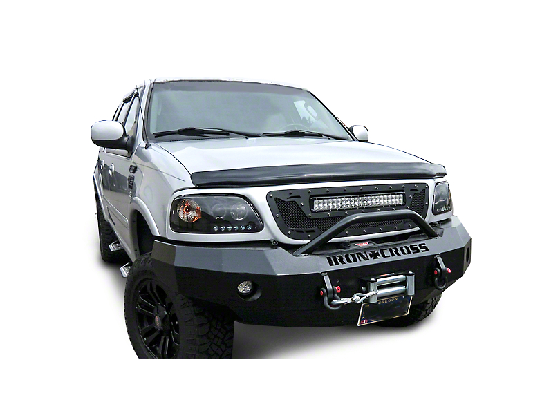 Royalty Core RCRX Race Line Grille w/ Top Mounted 23 in. LED Light Bar - Satin Black (97-03 All)
