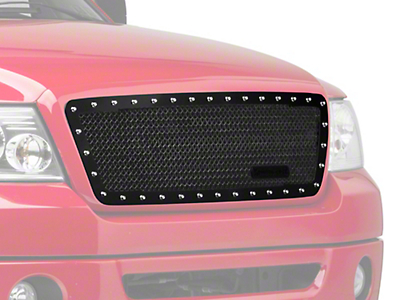 Royalty Core RC1 Classic Stainless Steel Upper Grille Insert - Gloss Black (04-08 All)