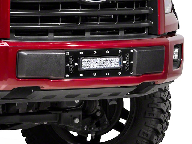 Royalty Core Lower Bumper Grille Insert w/ 12 in. LED Light Bar - Black (15-17 All, Excluding Raptor)