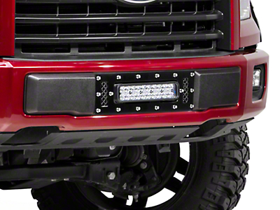 Royalty Core Lower Bumper Grille Insert w/ 12 in. LED Light Bar - Black (15-17 F-150, Excluding Raptor)