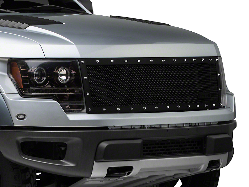 Royalty Core RC1 Classic Upper Replacement Grille - Satin Black (10-14 F-150 Raptor)