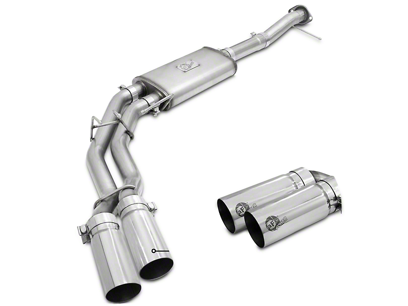 AFE Rebel Series 3 in. to 2.5 in. Cat-Back Exhaust w/ Polished Tips - Middle Side Exit (11-14 5.0L)