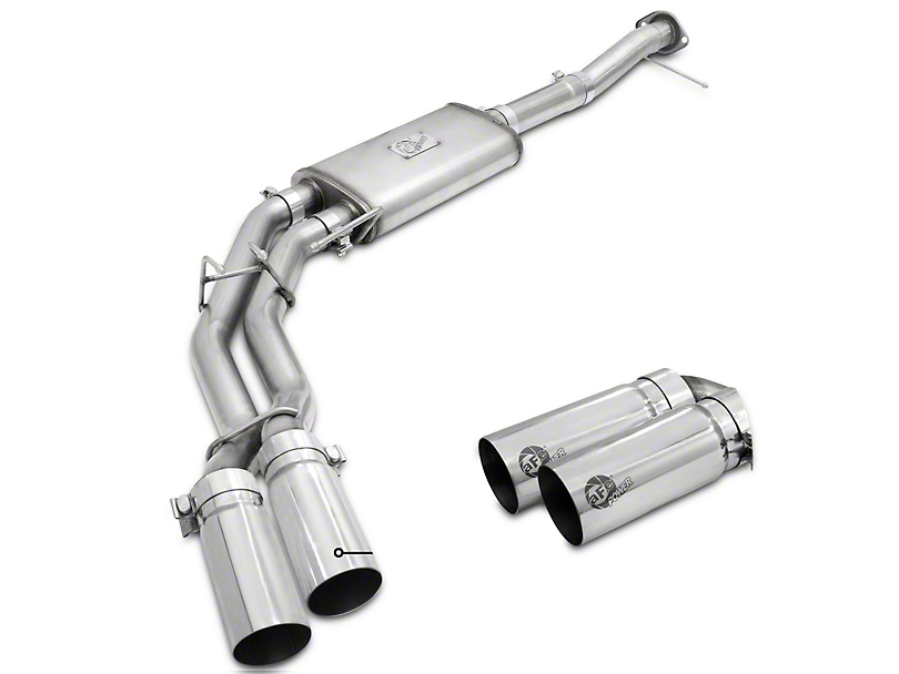 AFE Rebel Series 3 in. to 2.5 in. Cat-Back Exhaust w/ Polished Tips - Middle Side Exit (09-10 5.4L, Excluding Raptor)