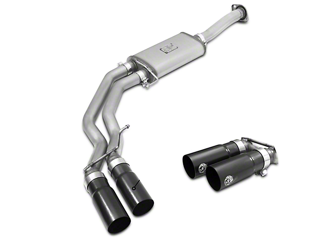 AFE Rebel Series 3 in. to 2.5 in. Cat-Back Exhaust w/ Black Tips - Middle Side Exit (15-18 3.5L EcoBoost, Excluding Raptor)
