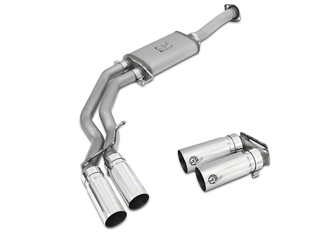 AFE Rebel Series 3 in. to 2.5 in. Cat-Back Exhaust w/ Polished Tips - Middle Side Exit (15-17 3.5L EcoBoost, Excluding Raptor)