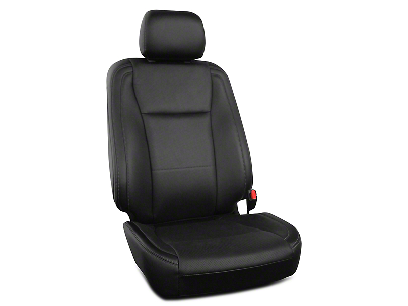 Roadwire Premium Leather Front Seat Covers - Black (15-19 F-150 XL, XLT, Platinum SuperCrew)