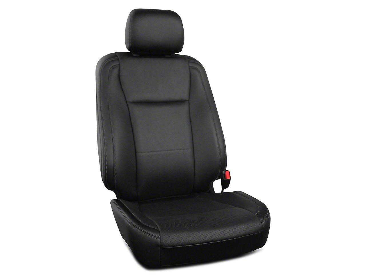 Roadwire Premium Leather Front Seat Covers - Black (15-18 F-150 XL, XLT, Platinum SuperCrew)