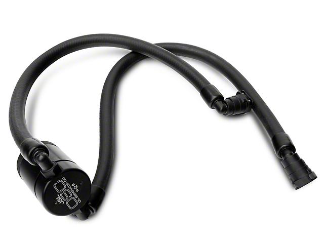 JLT 3.0 Black Oil Separator; Passenger Side (11-21 2.7L/3.5L EcoBoost, 5.0L F-150)