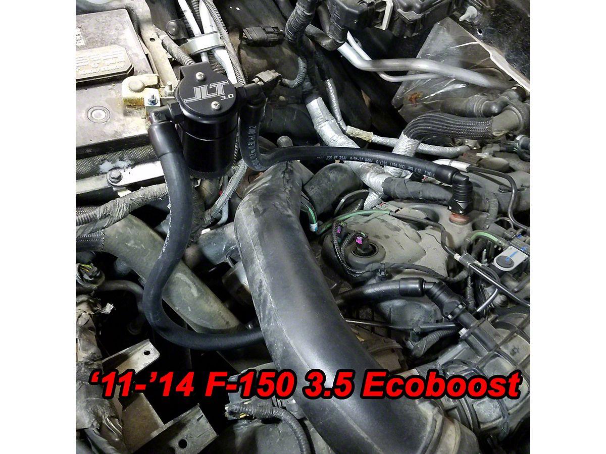 JLT V3 0 Black Oil Separator - Passenger Side (11-19 2 7L/3 5L EcoBoost,  5 0L F-150)
