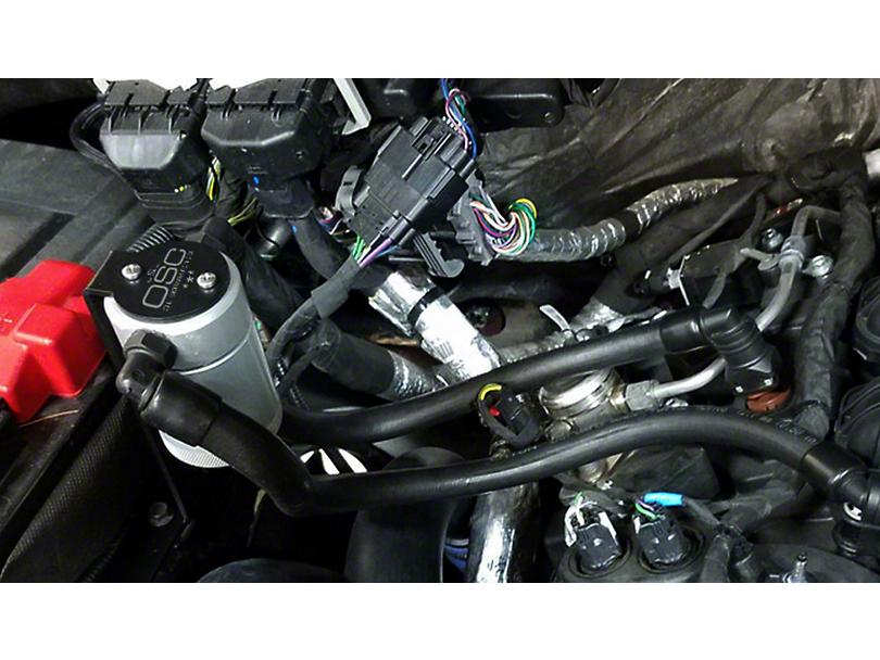 JLT V3.0 Satin Oil Separator - Passenger Side (11-17 2.7L EcoBoost, 5.0L, 6.2L F-150; 11-19 3.5L EcoBoost F-150)