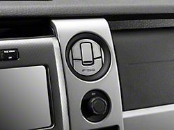 Modern Billet Polished/Brushed A/C Deluxe Vent Trim Covers w/ F-150 Logo (10-14 F-150)