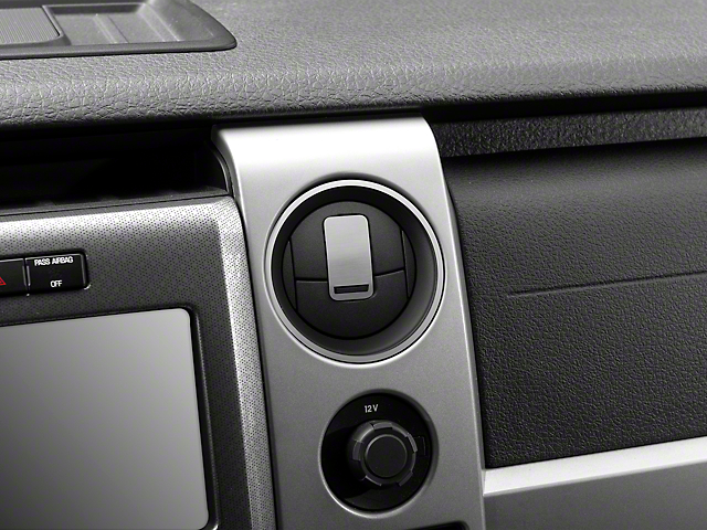 Modern Billet Polished/Brushed Front A/C Vent Trim Rings (10-14 F-150)