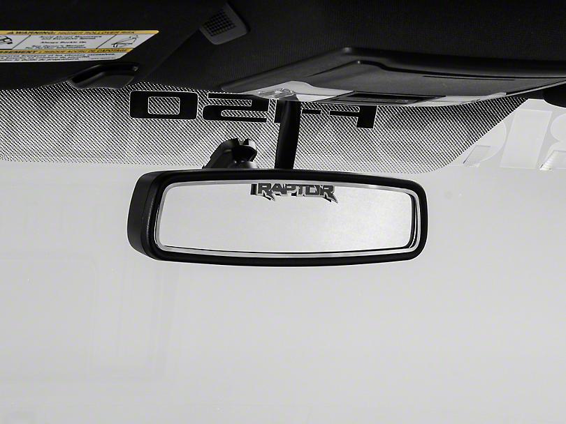 Brushed Rear View Mirror Trim w/ Raptor Logo (10-14 F-150)