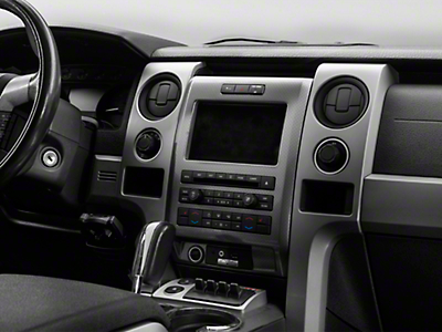 Modern Billet Polished Dash Trim Rings (10-14 F-150)