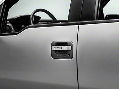 Brushed Door Handle Pulls w/ Raptor Logo (11-14 F-150 Raptor SuperCrew)