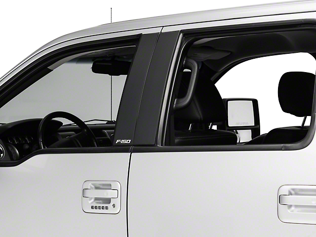 Putco Black Platinum Pillar Posts Classic w/ F-150 Logo (04-14 F-150 SuperCrew)