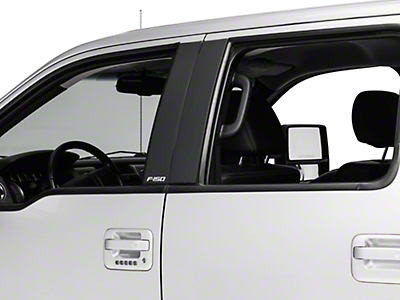 Putco Black Platinum Pillar Posts Classic w/ F-150 Logo (04-14 SuperCrew)