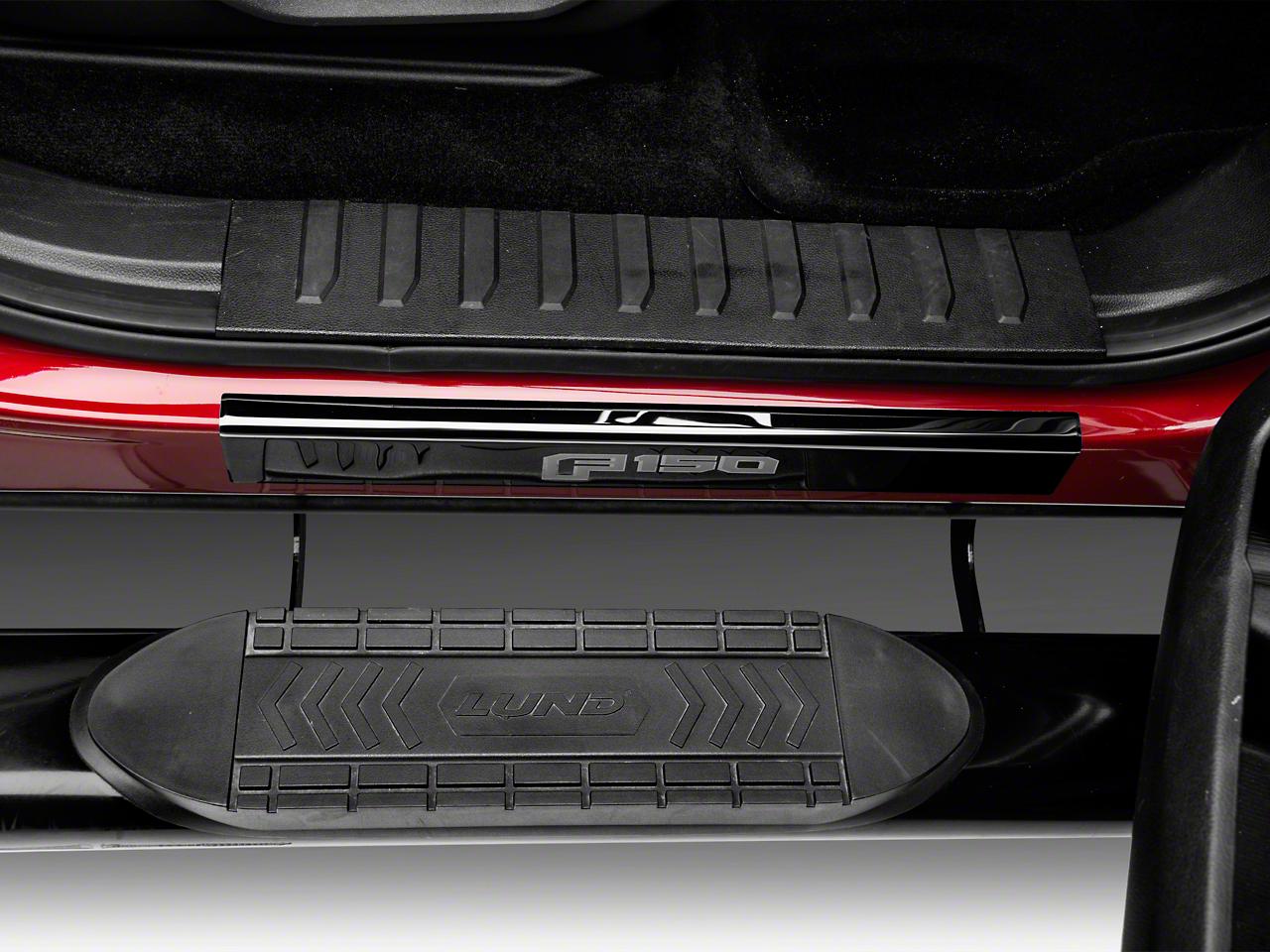 Putco Black Platinum Door Sills w/ F-150 Logo (15-18 F-150)