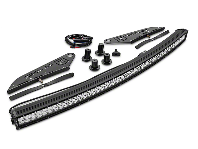 Zroadz f 150 50 in curved led light bar w front roof light bar curved led light bar w front roof light bar mounting brackets 15 18 f 150 mozeypictures