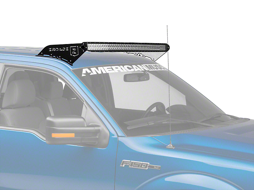 ZRoadz Front Roof Light Bar Mount w/ 52 in. Curved LED Light Bar (09-14 All)