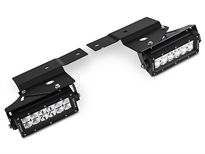 ZRoadz Front Bumper Fog Light Mounting Kit w/ Two 6 in. LED Light Bars (10-14 Raptor)