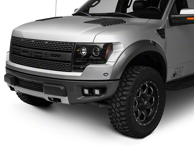 ZRoadz Front Bumper Mounting Kit w/ Four 3 in. LED Light Cube Pods (10-14 Raptor)
