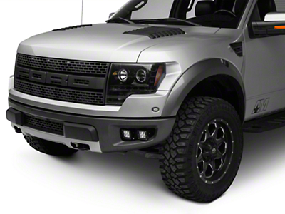 ZRoadz Front Bumper Mounting Kit w/ Four 3 in. LED Light Cube Pods (10-14 F-150 Raptor)