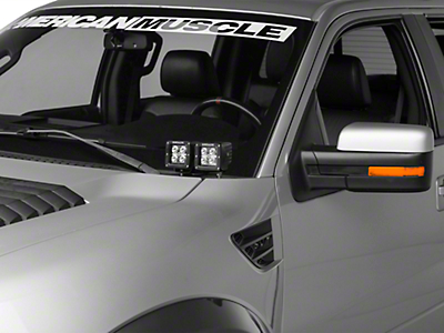 ZRoadz Hood Hinges Mounting Kit w/ Four 3 in. LED Light Cube Pods (09-14 F-150)