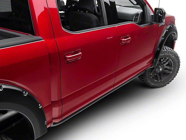 N-Fab Cab Length Rock Rails - Textured Black (15-18 F-150 SuperCrew)