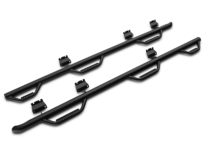 N-Fab Bed Access Nerf Step Bars - Textured Black (15-18 SuperCab & SuperCrew w/ 6.5 ft. Bed)
