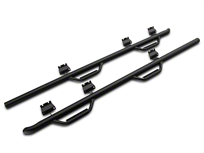 N-Fab Wheel 2 Wheel Nerf Step Bars - Textured Black (15-18 SuperCab & SuperCrew w/ 6.5 ft. Bed)